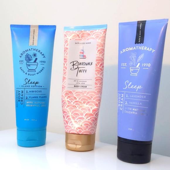 Gently used Bath + Body Cream set of 3